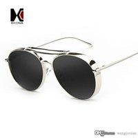 aviator sunglasses for men - Pink Aviator Sunglasses Women Brand Designer UV400 Shade Golden Ladies Eyewear Female Metal Frame Pilot Sunglasses for Men New Oculos de sol
