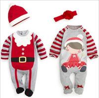 apple hoodies - Kids Christmas Jumpsuits Boy Girl Xmas Long Sleeve Romper high quality Jumpsuit Hoodies cInfant Baby Toddler Cartoon Romper