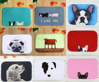 Wholesale 40 cm Dog Series Bath Mats Anti Slip Rugs Coral Fleece Carpet For For Bathroom Bedroom Doormat Online