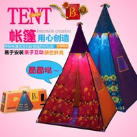 Wholesale The United States B toys Indian children tent baby toy house indoor and outdoor travel game room