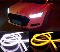 Wholesale 2pcs cm DRL Flexible LED Tube Strip Style Daytime Running Lights Tear Strip Car Headlight Turn Signal Light Parking Lamps