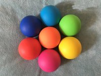 Wholesale MM high quality Rubber Lacrosse Yoga crossfit massage ball relex muscle Trigger Point Relaxation Self Massage