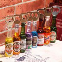 bar magnet sale - ChowDon Retro Bar Home Decor Ornaments Creative Novelty Personalized Mini Beer Bottle Opener Multi Function Fridge Magnets Sale