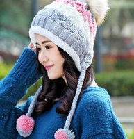 Wholesale New Arrival Winter Beanie Hats Skull Caps For Women Knitted Keep Warm Hat Fashion Korean Style Caps Free Size Colors