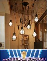 adjustable light bar - Novelty spider Pulley pendant Lamp kitchen Bar adjustable Retro chandelier industrial lighting candelabro Dining Room vintage pendant MYY73