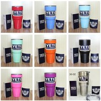 Wholesale 2016 colourful yeti Bilayer Stainless Steel Insulation Cup OZ YETI Cups Cars Beer Mug Large Capacity Mug Tumblerful