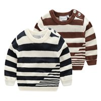 Wholesale 2016boys clothing boys clothes kids clothing Baby boy children striped long sleeved sweater sweaters