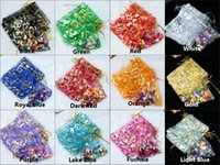 Wholesale 100pcs Patterns Luxury Heart Organza Jewelry Bags Christmas Wedding Voile Gift Bag Drawstring Jewelry Packaging Gift Pouch DZ