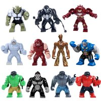 big legos - Decool Marvel Super Hero Avengers Big Figures Hulk Ultron DARKSEID MARK IGOR Building Blocks Toys Legos Compatible
