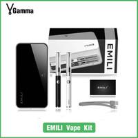 bank pens - SMISS Pocket size EMILI vaporizer kit double e cigarettes starter kit with mah case power bank vape pen