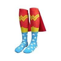 batgirl costume accessories - Batman Superman Cape Socks Knee High New Batgirl Supergirl Superboy