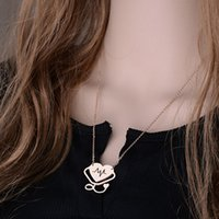 Wholesale New Body Chain Statement Choker Necklace Women Heart ECG Heartbeat Pendant Silver Rose Gold Chain Stethoscope Necklace