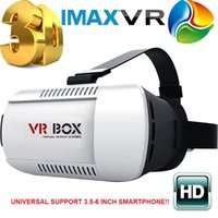 Wholesale Head Mount VR BOX Virtual Reality D Glasses Google Cardboard Immersive IMAX Screen d Video Game Movie Smart Phone Headset Focal Adjustment