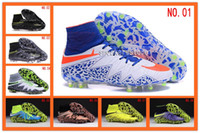 ankle sports shoes - With Original Box Football Soccer Shoes Hypervenom Phantom II FG Men High Ankle ACC New Soccer Cleats cheap Boots Sport Shoe