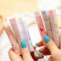Wholesale PC stationery supplies kawaii cartoon Pencil erasers for office school kids prize writing drawing
