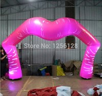 Wholesale Wonderful Pink Led Light Inflatable Lip Arch For Party Decorations Stage Decorations