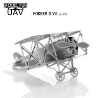 Wholesale DIY model The Fokker Hongkong simulation Eiffel Tower car helicopter P Mustang simulation of metal D three dimensional puzzle