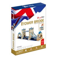 animal gifts uk - Christmas gifts Toys Cubic Fun D Puzzle Tower Bridge UK Model DIY Puzzle Children Toys Birthday Gifts Educational Toys MC066h