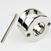 Wholesale Stainless Steel Ball Weight Scrotum Ring Penis Cock Testis Restraint Device Adult Sex Products g Ball Stretcher NEW