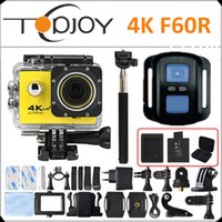 Wholesale F60R K Action Camera K fps P fps WiFi LCD D Helmet Cam Waterproof Extrame Cam Remote Control Sport Camera F60R