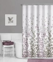 Wholesale Maytex Sylvia Fabric Shower Curtain Printed Faux Silk