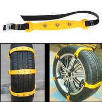 Wholesale 10pcs Set Car Snow Vehicle Tire Chain Anti Skid Chains Thickened Beef Tendon Vehicles Wheel Antiskid TPU Chain Size S