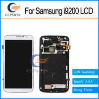Cheap For samsung galaxy mega 6.3 i527 i9205 i9200 lcd display touch screen digitizer assembly LCD black and white free shipping
