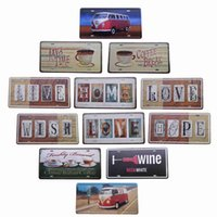 Wholesale Antique Metal Tin Signs Love And Hope Pub Bar Wall Decoration Retro Art Poster