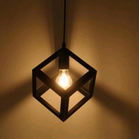 Wholesale The Geometry LED Droplight Industrial Lighting Pendant Lamps For Cafe Bar Bedroom Restaurant Living Room Iron Art