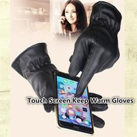 driving gloves - Newest leather gloves Women outdoor winter Gloves driving PU leather gloves touch screen Gloves fashion Keep warm gloves