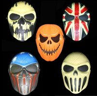 zombie - Halloween Pumpkin Mask Skull Zombie Field Equipment Cacique Mask Personality CS Skeleton Warrior Masks Drop Shipping Party Supplies
