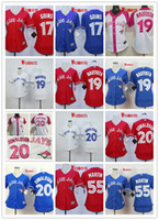 pink jersey - Women Stitched Toronto Blue Jays Martin Bautista Donaldson Goins Blue white Red Pink MLB Baseball Jerseys