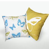 Wholesale 3 zebra creative pillow American country butterfly sofa cloth linen Cuddle Pillow Pillowcase