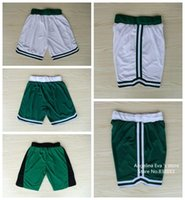 Wholesale Boston Basketball Shorts Boston Marcus Smart White Green Basketball Shorts Size S XXL