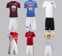 Wholesale 2016 Adult kits home away soccer jersey new soccer Jersey Naples Benfica Americas Monaco Short Sleeve Soccer Jersey