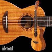 Wholesale Concert koa ukulele inches Hawaii ukulele High quality Electric strings Ukulele Bag Guitar factory OEM custom logo
