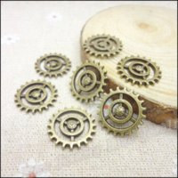 antique metal wheels - Vintage Charms gear wheel Pendant Antique bronze Fit Bracelets Necklace DIY Metal Jewelry Making