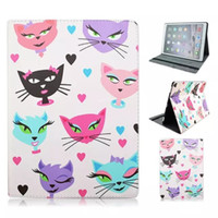 Fashion 12.9 inch For Apple Folio PU Leather Cover Case Tablet PC Cases Bags Holder Colorful Cat Butterfly Love Heart for ipad Pro 12.9 inch