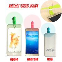 Wholesale 2016 Summer Hot Sale Mini USB Fan For Android Apple Iphone and Notebook With Package Flexible Outdoor Goods Home Charge