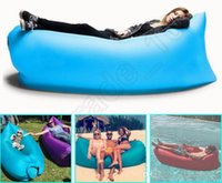 Wholesale 250 cm Inflatable Air Sofa Sleeping Bag Outdoor Air Sleep Sofa Couch Seconds Quick Open For Camping Travel QQA408