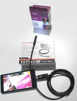 Wholesale 1 M Length mm LED Endoscope Camera Lens Micro USB and USB for Android Mobile Phone and PC
