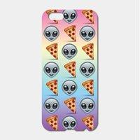 alien pc case - For iPhone S Plus SE S C S iPod Touch Hard PC Tie Dye Alien Pizza Emoji Phone Cases