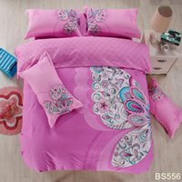 bedding canada - 2016 Lastest Cotton Quality Bedding Set With Flowers Printing for girls bed sheets canada