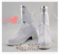 al por mayor zapatos de cosplay asuna-¡Envío al por mayor-Libre! Hit arte caliente de la espada del producto en línea Asuna Yuuki Cosplay Boots Shoes