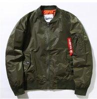 air force ribbons - MA1 Air Force men s jacket lovers fall winter coat pilots thin section influx bomber jacket baseball uniform Army jacket coat