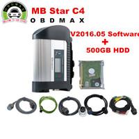Precio de Herramientas de disco duro-Mejor MB Star C4 MB SD conectar 4 compact 4 y Nuevo 500G HDD con el software más nuevo V2016.09 DAS XENTRY herramienta de diagnóstico de coche