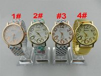 Wholesale 55pcs New Geneva Polka dot stretch watch Alloy Flower Printing Stainless Metal Quartz Dress Fashion Women Ladies Girls Bracelet Watches