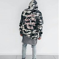 bape camo - kanye ANTI SOCIAL SOCIAL CLUB The Snow Camo Sweatshirts Drawstring Men And Women Hoodies Brand Clothing