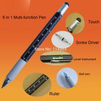 aluminium ball pen - in Multifunction pen with Ball Pen Level Instrument Ruler and Screw Driver Aluminium Hexangular Ballpoint Pen Tool Ball Pens