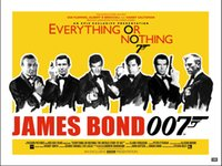 art banner - A837 ames Bond Banner EVERYTHING OR NOTHING viny Art Silk Poster Room Wall Decor x36inch